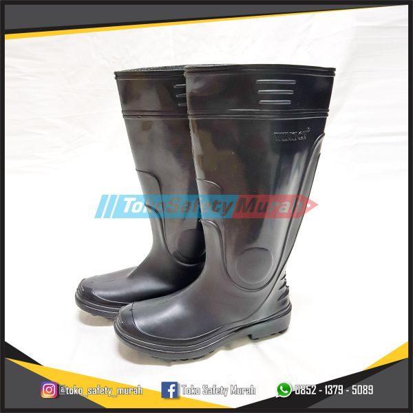 Sepatu Boot Wing On Karet Tinggi Untuk Kerja Proyek   Cor   Kebun   Taman 609098e967